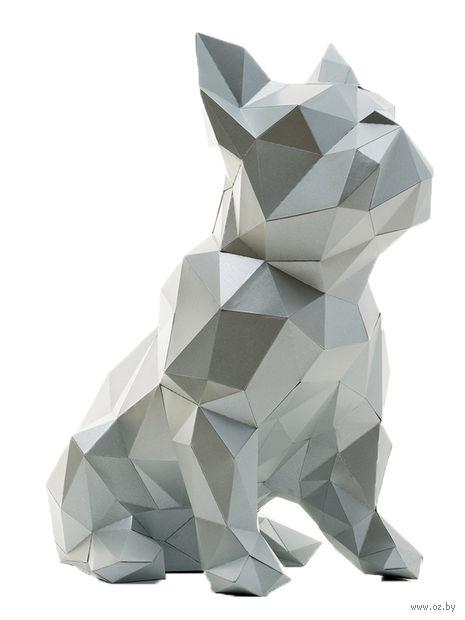 """3D-конструктор """"Бульдог Жульен"""" (платиновый) — фото, картинка"""