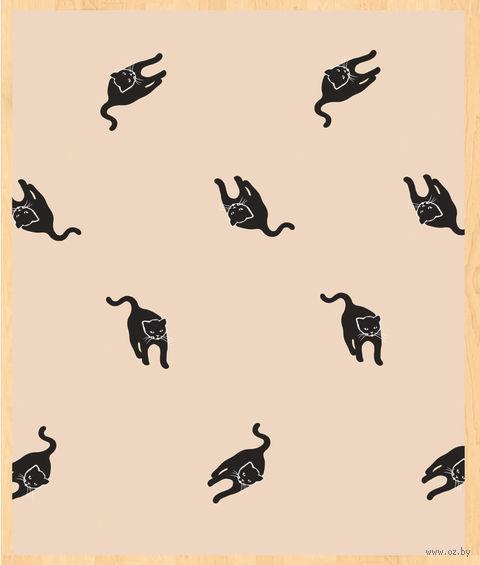 """Простыня хлопковая на резинке """"Cats"""" (90х200 см) — фото, картинка"""