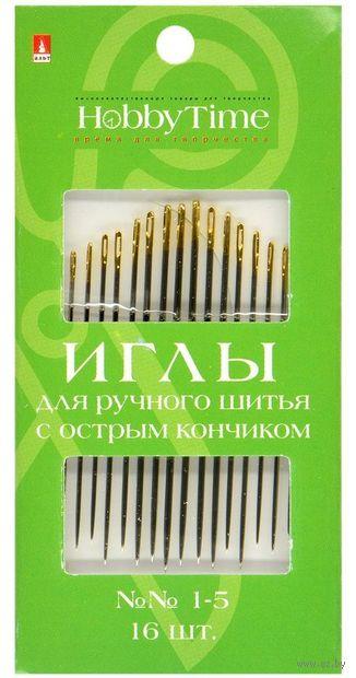 Иглы для шитья №1-5 (16 шт.; арт. 2-687/01) — фото, картинка