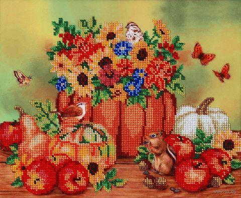 """Вышивка бисером """"Осенние посиделки"""" (300х250 мм) — фото, картинка"""