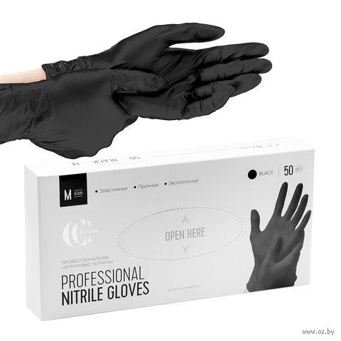 Перчатки одноразовые нитриловые (M; 50 шт.) — фото, картинка