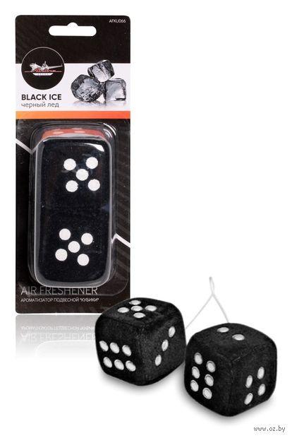 """Ароматизатор подвесной """"Кубики"""" (чёрный лёд; арт. AFKU066) — фото, картинка"""