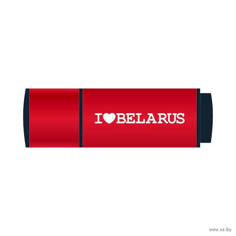 "USB Flash Drive 4Gb Vitaem ""I LOVE BELARUS"" (красная)"