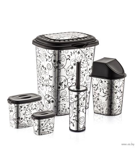 Набор для ванной пластмассовый (5 предметов; арт. D037-X11)