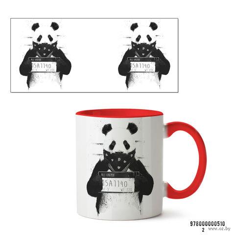 """Кружка """"Панда"""" (красная; арт. 510) — фото, картинка"""