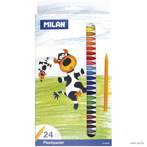 Мелки восковые (24 цвета)
