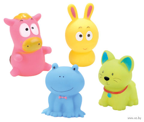 """Набор игрушек для купания """"Удивительные животные"""" (4 шт)"""
