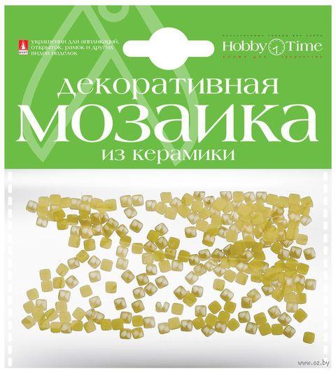 Мозаика декоративная из керамики №3 (4х4 мм; 200 шт.; желтый) — фото, картинка
