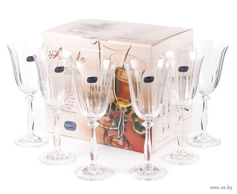 "Бокал для вина стеклянный ""Angela"" (6 шт.; 250 мл; арт. 40600/1/250) — фото, картинка"