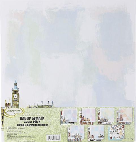 "Набор бумаги для скрапбукинга ""Прогулки по Европе"" (305х305 мм) — фото, картинка"