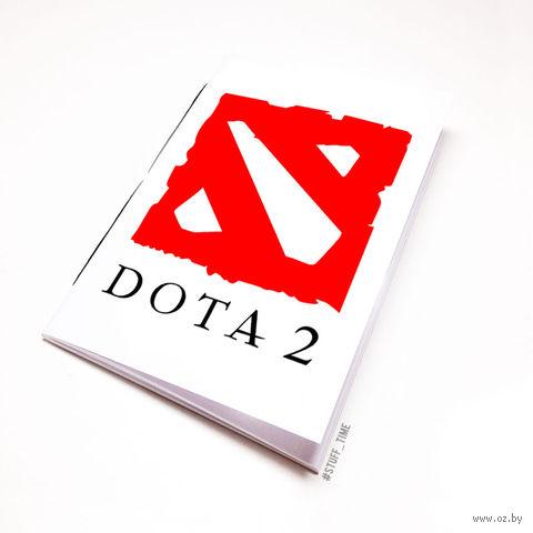 """Блокнот белый """"ДОТА 2"""" А6 (026)"""