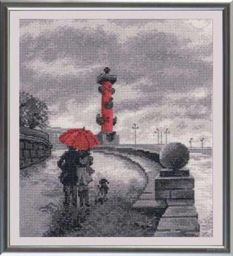 """Вышивка крестом """"Петербургская набережная"""" (220x250 мм) — фото, картинка"""