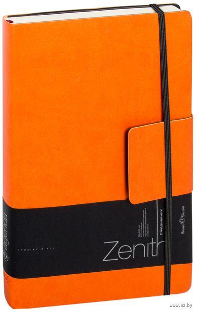 """Ежедневник недатированный """"Zenith"""" (B5; оранжевый) — фото, картинка"""