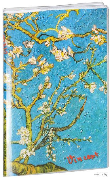 """Блокнот """"Ван Гог. Цветущие ветки миндаля"""" (115x180 мм) — фото, картинка"""