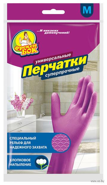 Перчатки хозяйственные латексные (M; 1 пара; арт. 17105000) — фото, картинка