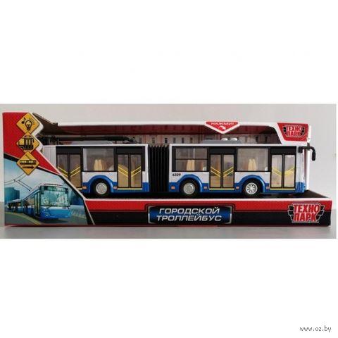 """Модель машины """"Городской троллейбус"""" (арт. TROLLRUB-30PL-BUWH) — фото, картинка"""
