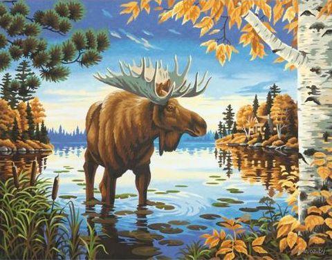 """Картина по номерам """"Величественный лось"""" (280х360 мм; арт. DMS-73-91453)"""