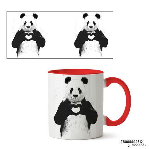 """Кружка """"Панда"""" (арт. 512, красная)"""
