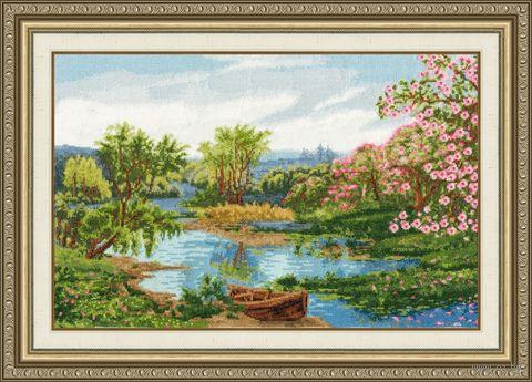 "Вышивка крестом ""Цветущая весна"" (428х276 мм) — фото, картинка"