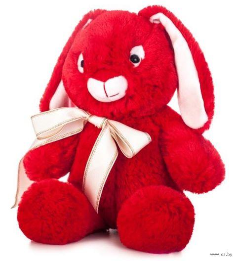 """Мягкая игрушка """"Заяц Мартин"""" (34 см; красный) — фото, картинка"""
