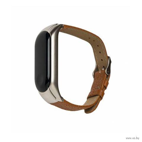 Ремешок для Xiaomi Mi Band 3 Bingo Leather (коричневый) — фото, картинка