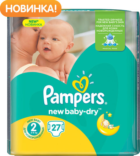 "Подгузники ""Pampers New Baby Mini"" (3-6 кг, 27 шт)"