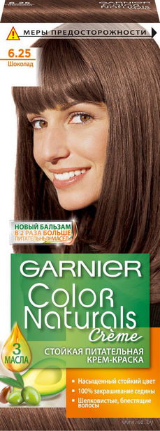 "Крем-краска для волос ""Color Naturals"" тон: 6.25, шоколад — фото, картинка"