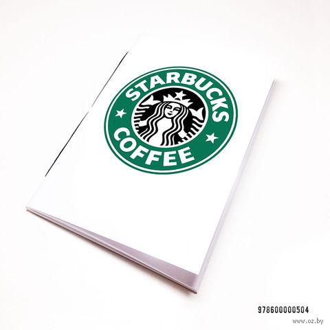 """Блокнот белый """"Старбакс кофе"""" А7 (арт. 504)"""