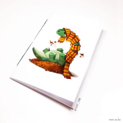 "Блокнот белый ""Динозаврик"" А5 (955)"