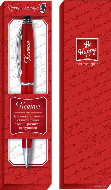 """Ручка шариковая со стилусом """"Ксения"""" — фото, картинка"""