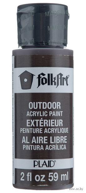 "Краска акриловая ""FolkArt. Outdoor"" (жженая умбра; 59 мл; арт. PLD-01618) — фото, картинка"