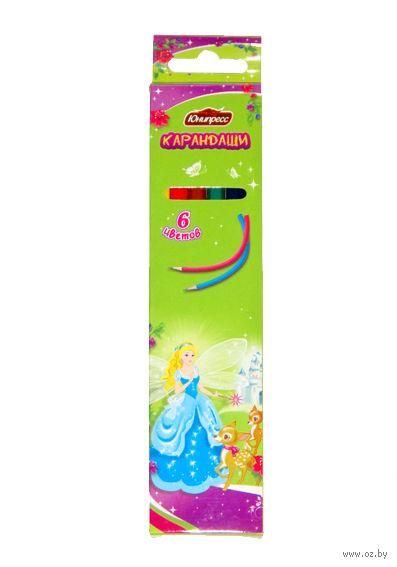 """Цветные карандаши """"Принцесса"""" (6 цветов)"""