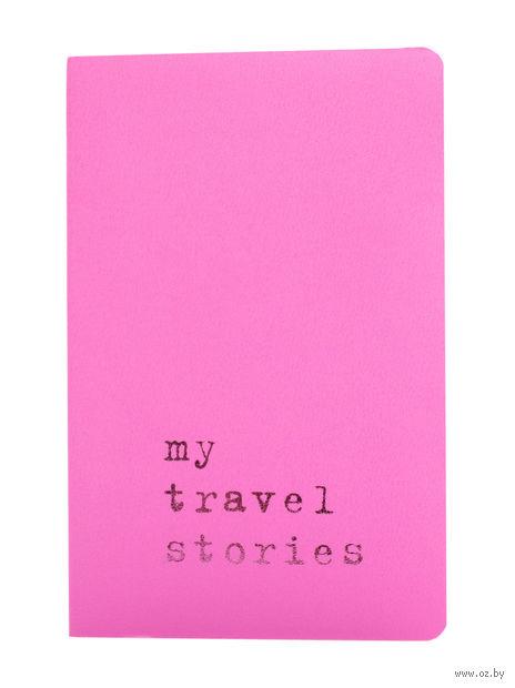 """Записная книжка Молескин """"Volant. My Travel Stories"""" в линейку (карманная; мягкая светло-розовая обложка)"""