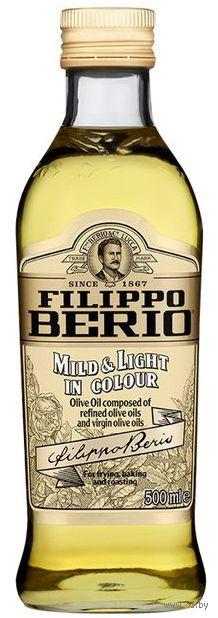 """Масло оливковое """"Filippo Berio. Mild & Light in colour"""" (500 мл) — фото, картинка"""