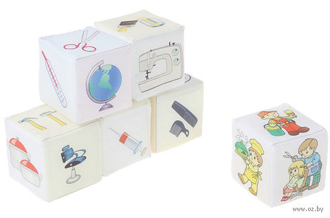 """Кубики """"Ассоциации. Профессии"""" (6 шт.) — фото, картинка"""