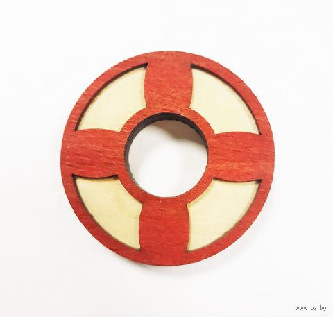 """Значок деревянный """"Спасательный круг"""" — фото, картинка"""
