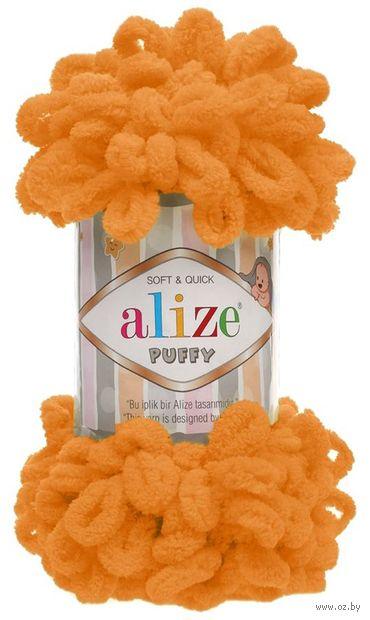 "Пряжа ""ALIZE. Puffy №336"" (100 г; 9,2 м; оранжевый) — фото, картинка"