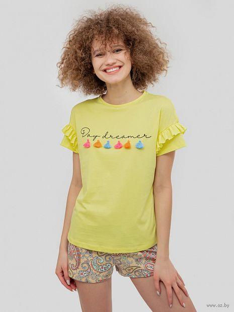 """Пижама женская """"562336"""" (жёлтый) — фото, картинка"""