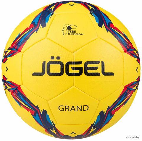 """Мяч футбольный Jogel JS-1010 """"Grand"""" №5 (жёлтый) — фото, картинка"""
