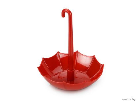 Подставка под канцелярские принадлежности в форме зонтика, с шариковой ручкой (красная)