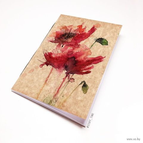 """Блокнот крафт """"Маки"""" (А5; арт. 773) — фото, картинка"""