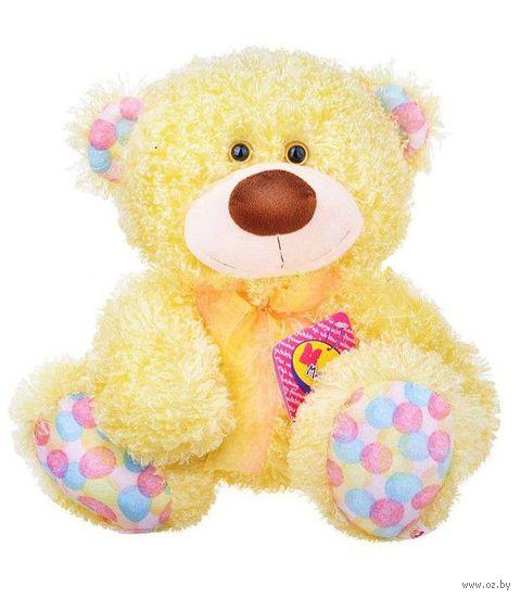 """Мягкая игрушка """"Медвежонок Ник"""" (34 см; медово-желтый) — фото, картинка"""