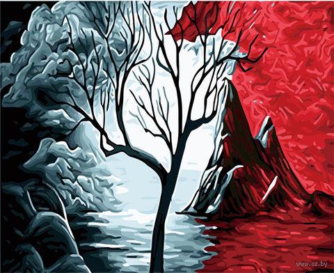 "Картина по номерам ""Одинокое дерево"" (400х500 мм) — фото, картинка"