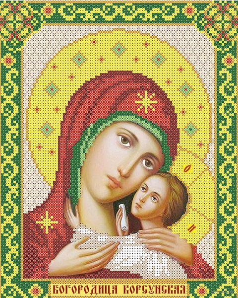 "Вышивка бисером ""Богородица Корсунская"" (250х200 мм) — фото, картинка"
