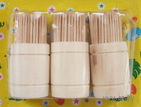 Набор зубочисток деревянных (120 шт) в деревянных подставках (3 шт)