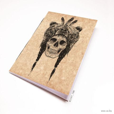 """Блокнот крафт """"Череп"""" (А7; арт. 943) — фото, картинка"""