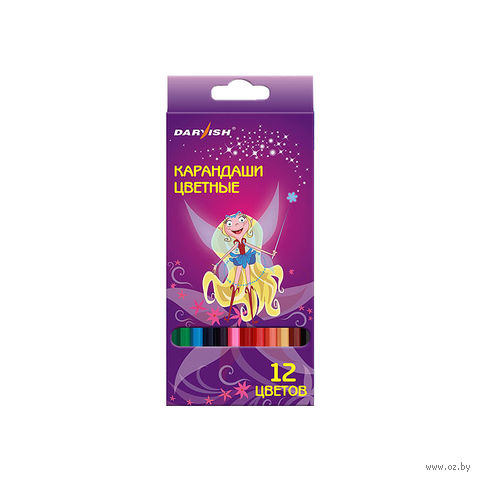 """Цветные карандаши """"Darvish"""" пластиковый корпус (12 цветов; арт. DV-1069-12)"""