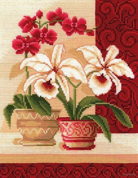 """Вышивка крестом """"Изящные орхидеи"""" (200x250 мм) — фото, картинка"""