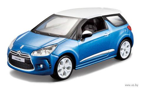 """Модель машины """"Bburago. Citroen DS3"""" (масштаб: 1/32; арт. 18-45133) — фото, картинка"""