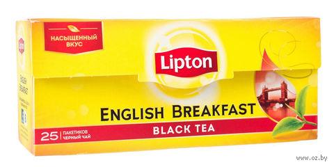 """Чай черный """"Lipton. English Brеakfast"""" (25 пакетиков) — фото, картинка"""